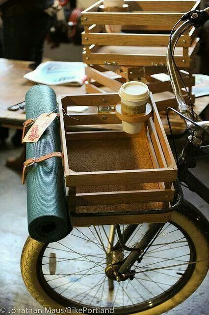 This bike basket + a mini poodle + a coffee = the perfect Sunday Morning