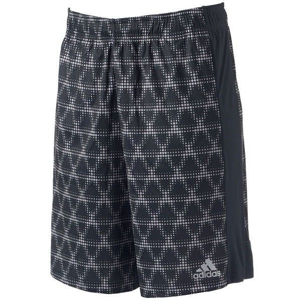 Men's Adidas Triax Shorts ($24) ❤ liked on Polyvore featuring men's fashion, men's clothing, men's activewear, men's activewear shorts, med grey, mens activewear and mens activewear shorts