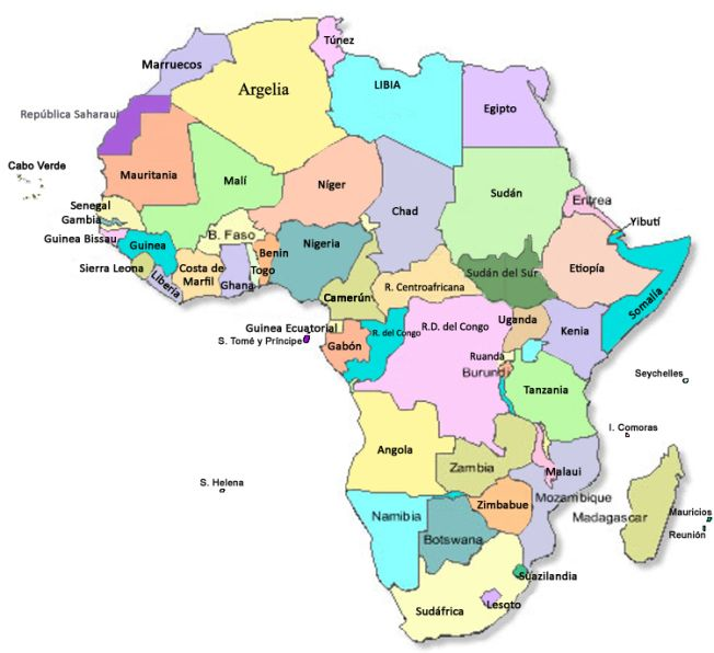 Resultado De Imagen Para Mapa Politico Africa Actual Mapa Politico De Africa Africa Mapa Continentes