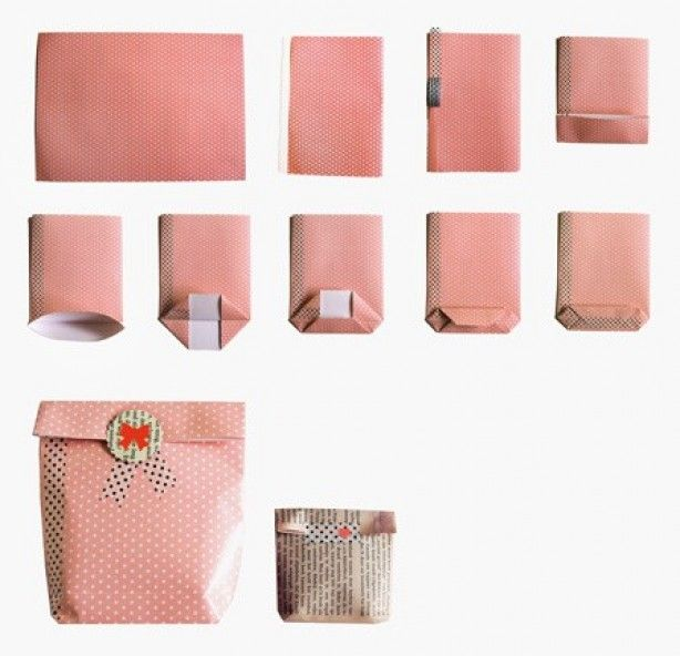 kadozakje van papier maken en sierplakband