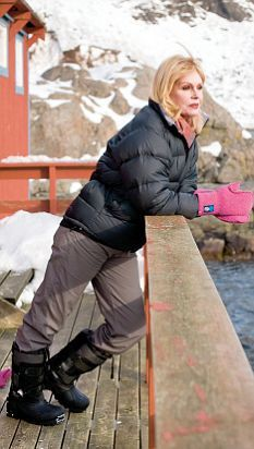 Joanna lumley in the Lofoten Islands, Northern Norway