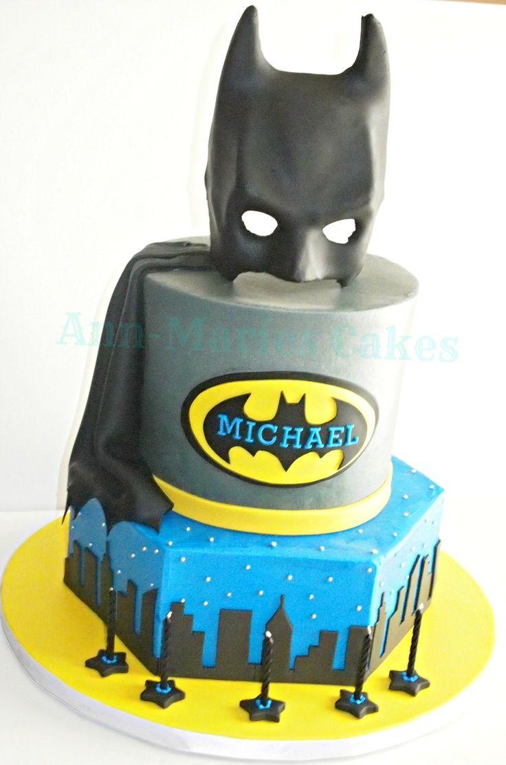 Bolos Decorados Do Batman With Images Batman Birthday Cakes
