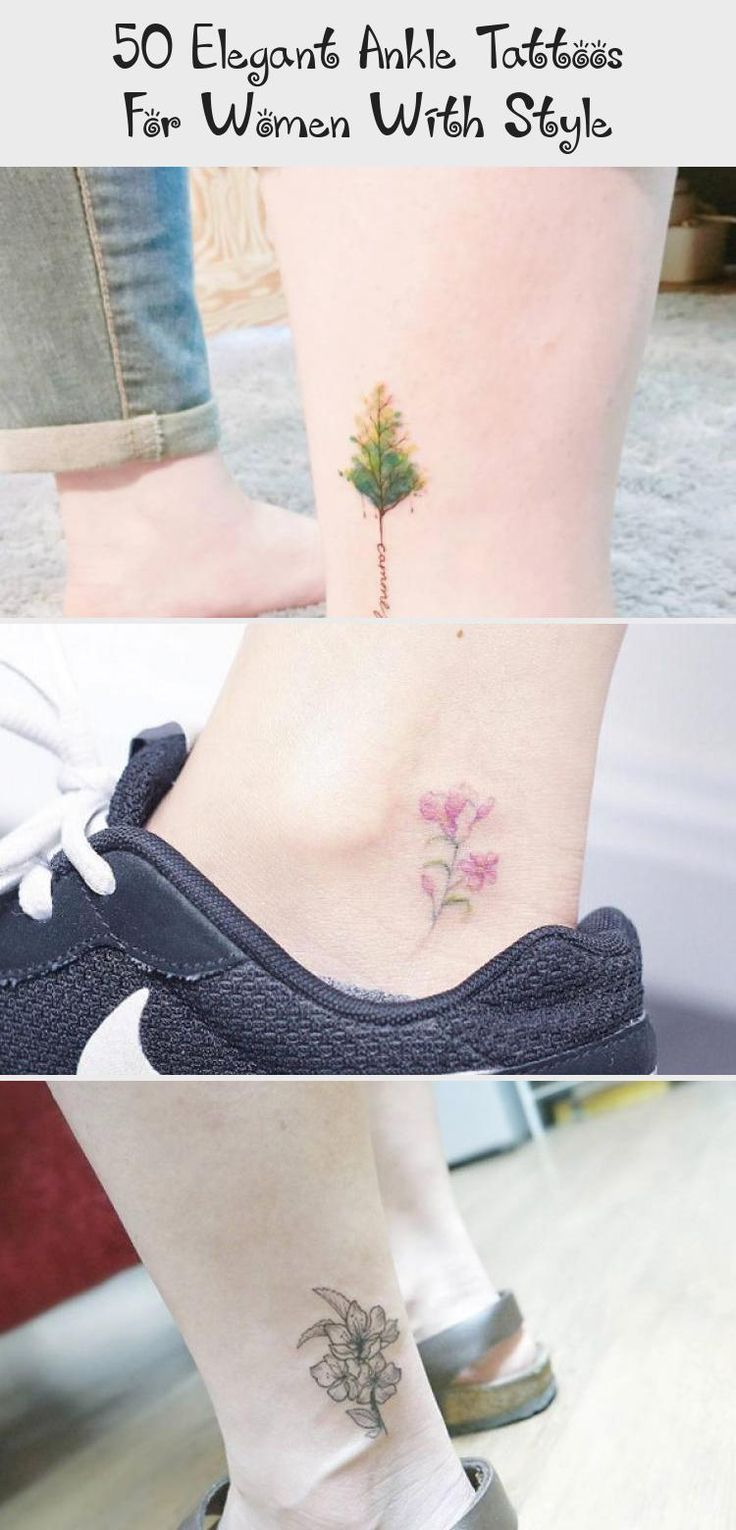 50 Elegant Ankle Tattoos For Women With Style Ankle