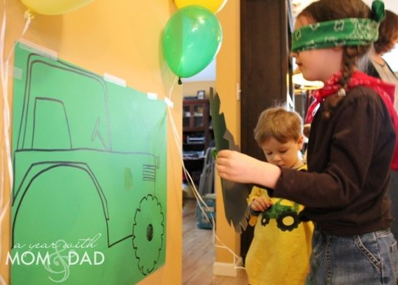 Pin the Wheel on the Tractor! Creative games for a Farm/ Tractor Birthday Party