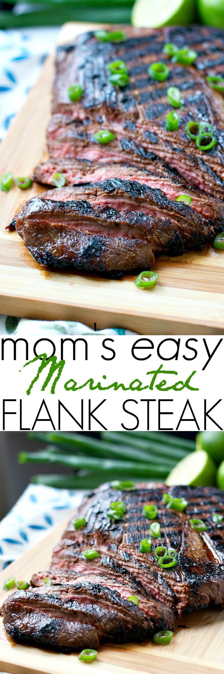Whether you grill your beef outside, use an indoor grill, or broil it in the oven, Mom's Easy Marinated Flank Steak is a tender and juicy steak that children and adults adore!