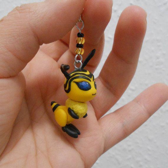 Miraculous Ladybug Bee Kwami polymer clay charm by Fegarostalida
