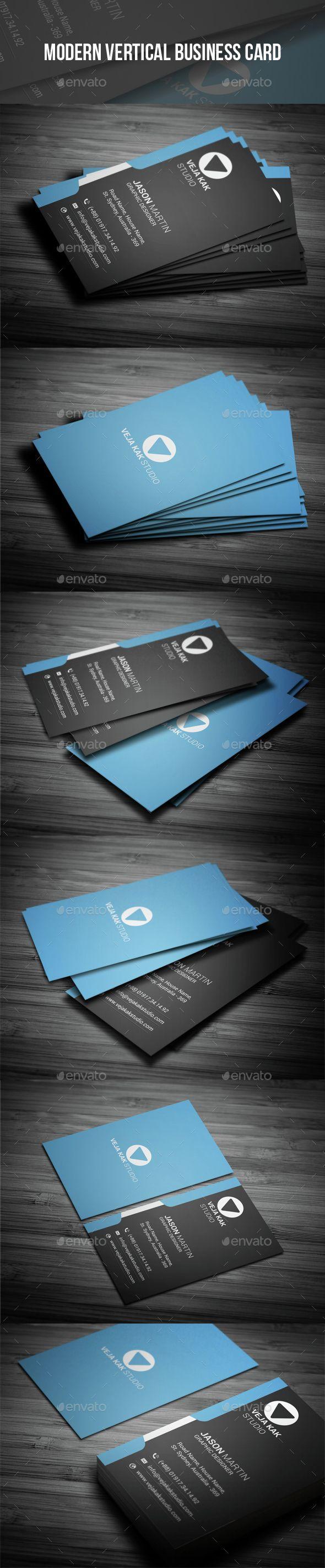 Modern Vertical Business Card Template PSD. Download here: http://graphicriver.net/item/modern-vertical-business-card/14954791?ref=ksioks