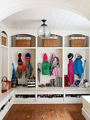 Mudroom ideas. Amazing mudroom by Sue from The Zhush