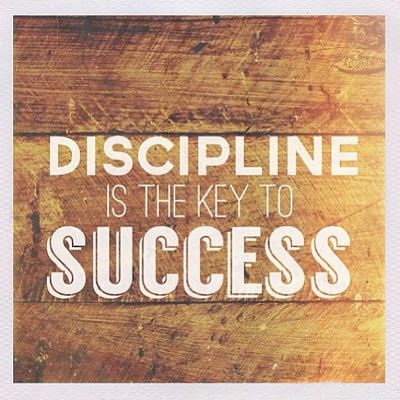 discipline is the key to success Will power and self-discipline help us to choose our behavior and reactions instead of being their slaves  and are the key to any kind of success.