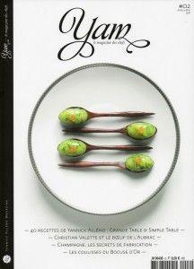 Couverture du deuxième numéro de YAM, le magazine des chefs