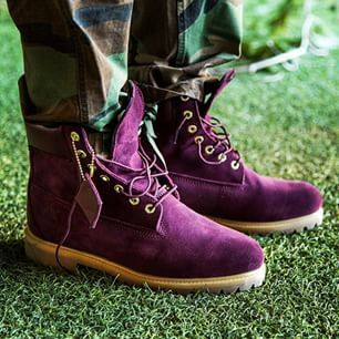 Classic Suede Purple Timberland Boots