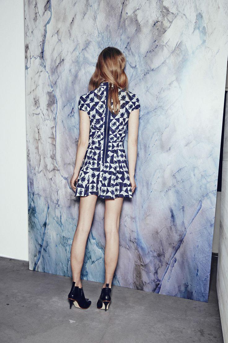 SWEET JANE SILK SATIN DRESS IN PATCHWORK GEO http://fallwinterspringsummer.com