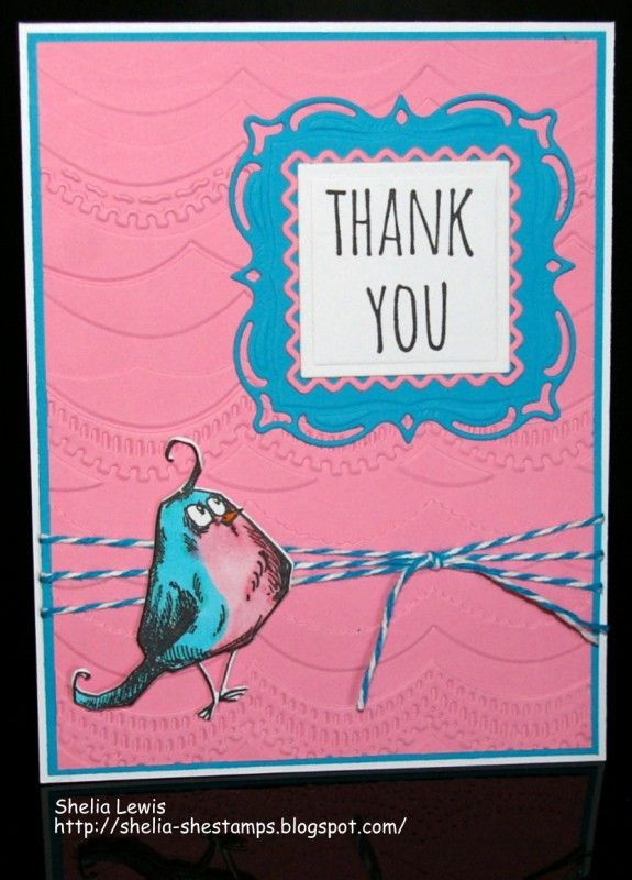 Birdie Thanks by shelia - Cards and Paper Crafts at Splitcoaststampers