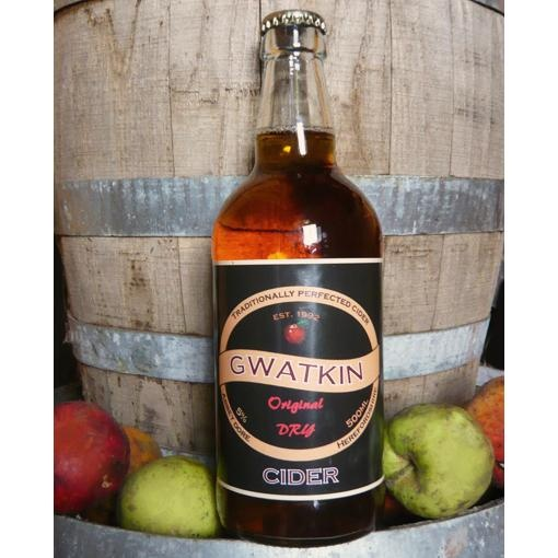 """Original is everything a cider should be, its deep full flavour making it a great all round drink. Winners of the 2009 CAMRA National Cider and Perry Championship, Gwatkin ciders have attracted attention in celebrity circles too, with Oz Clarke describing their perry as """"smashing""""."""