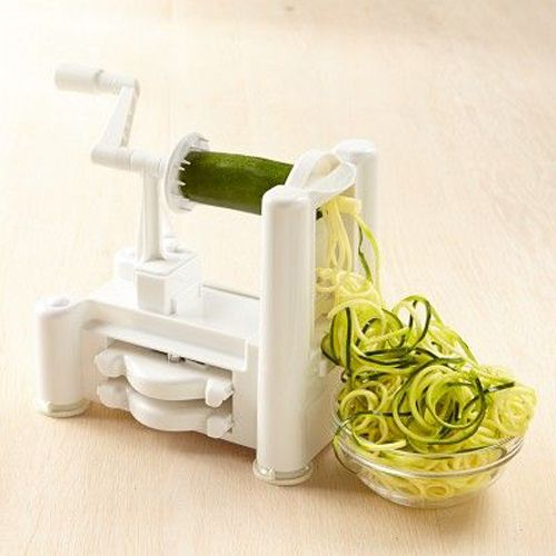 A spiralizer is a great tool for anyone who loves pasta, but is looking replace refined carbs with nutrient-rich veggies. They are incredibly user-friendly, and create curlicue noodles from zucchini and other veggies. If you're a vegetarian, a vegan, or just looking to add more veggies to your diet, this gadget will become your best friend. Shira recommends using your spiralizer to make this recipe for Tahini Zucchini Pasta or Zucchini Pesto Pasta.