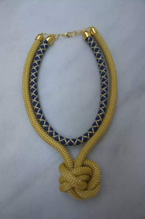 Gold and navy blue knot