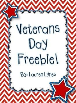 This freebie is perfect while you teach your students about Veterans Day! It include an information sheet for your students to read {which could be used as a fluency passage}, Veterans Can/Have/Are, Veterans Day ABC Order, and Character Traits of a Veteran.
