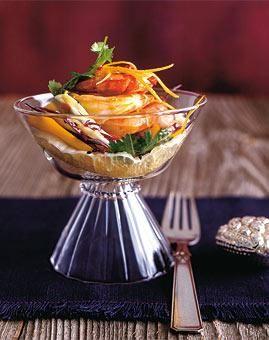 Rezept: Ingwer-Garnelen mit Zitrus-Krautsalat Rezept - [LIVING AT HOME]