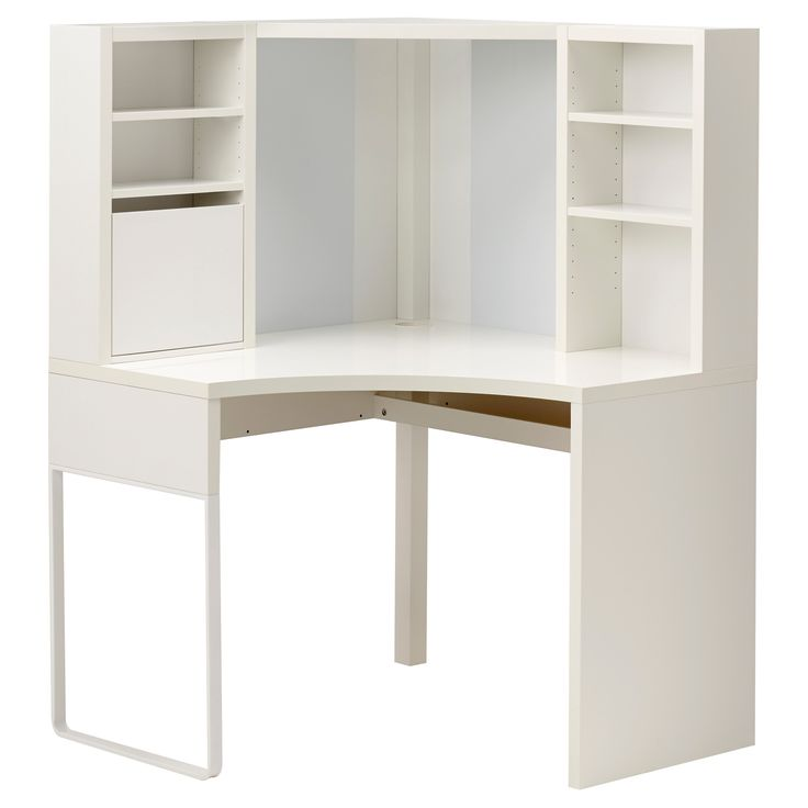 Micke Corner Workstation White