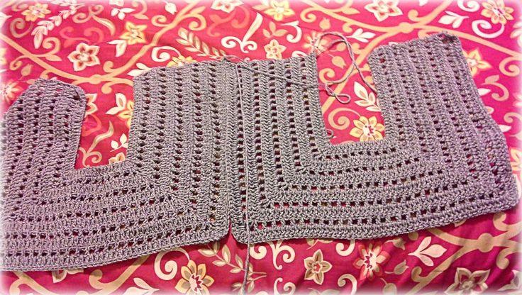 Empezamos asi como que muy inspirados....          Imagen tomada de Pinterest.com       Hemos tejido dos partes del chaleco identicas,   a...