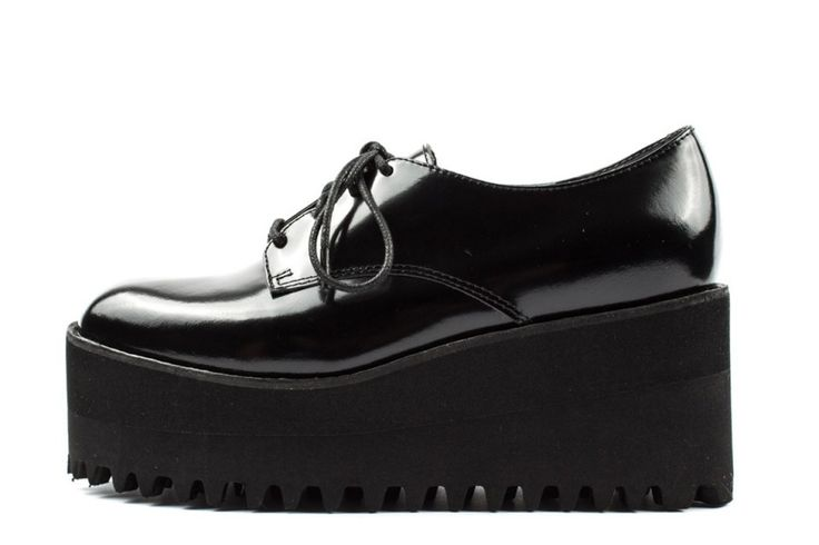 Jeffrey Campbell Pistol scarpe stringate con plateau immagini