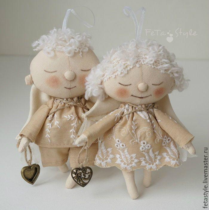 Купить Ангелы прилетели Куклы текстильные - ангел, ангел тильда, ангелы, ангел в подарок