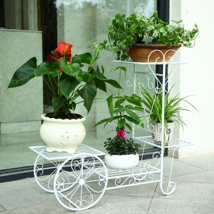 Best 25 flower stands ideas on pinterest farm stand metal plant stand and wire lampshade - Flower pot stands metal ...