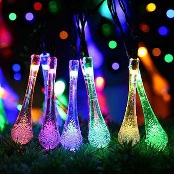solar powered raindrop string lights - Raindrop Christmas Lights