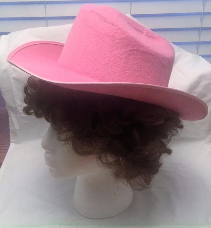 Pink Cowboy Hat Cos Play Halloween Rodeo Theatre Unmarked #Unbranded #Cowboywestern