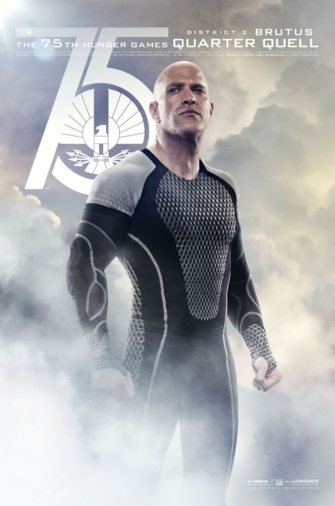 Brutus! ('Catching Fire' Poster Debuts: Brutus and Enobaria Stand Tall for the Quarter Quell | Moviefone)
