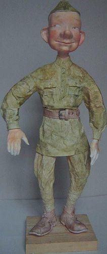 Костюм для куклы в технике бумажного пласта - Kukly.eu - Авторские Куклы Татьяны Гуриной. Галерея Кукол, Мастер-Класс.