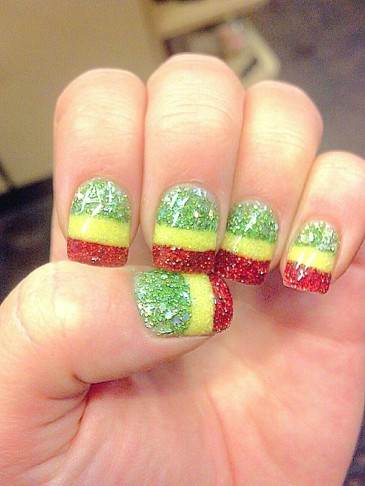8 best Nails images on Pinterest | Jamaica nails, Rasta nails and ...