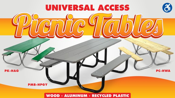 We offer a variety of wheelchair accessible picnic tables, handicap accessible playground components, handicapped accessible park grills, universal access sani-potties, handicapped accessible drinking fountains, and universal access camp fire rings.