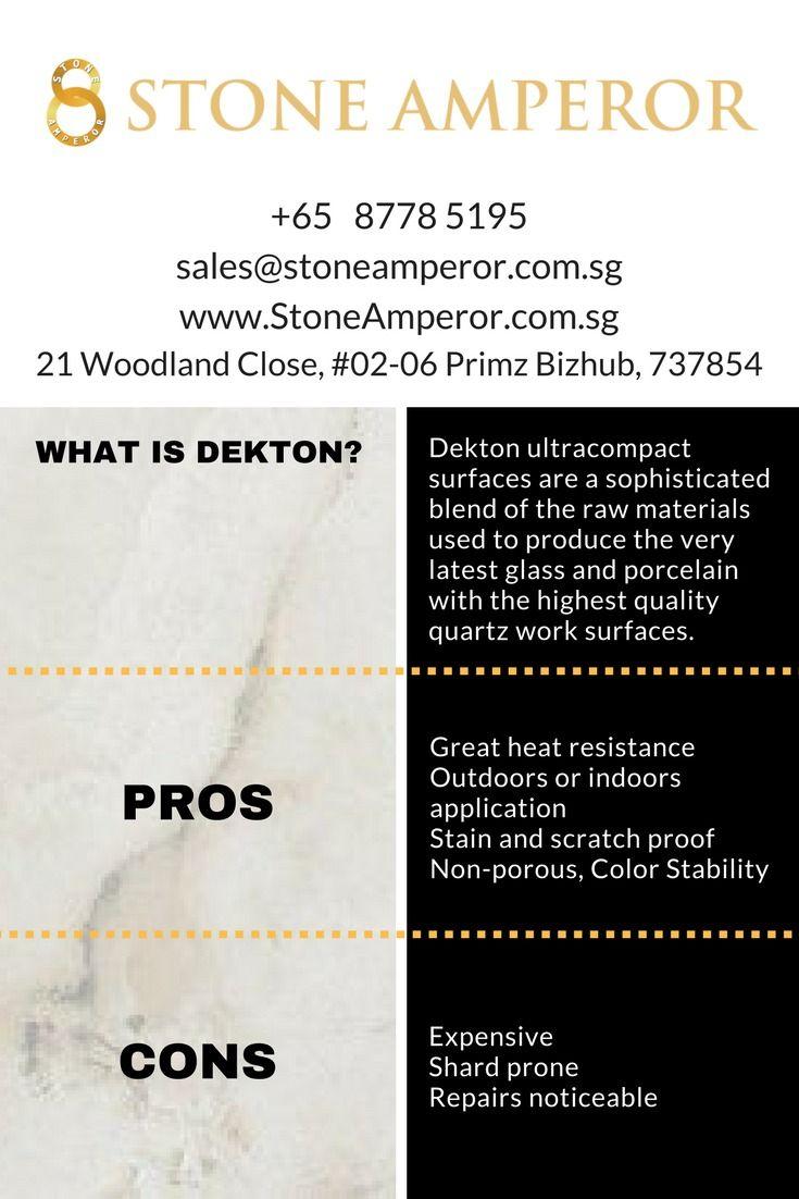 Pros Cons Dekton Countertops Kitchencountertop Kitchencountertopsupplier Marble Quartz Granite Soli Dekton Countertops Natural Stone Countertops