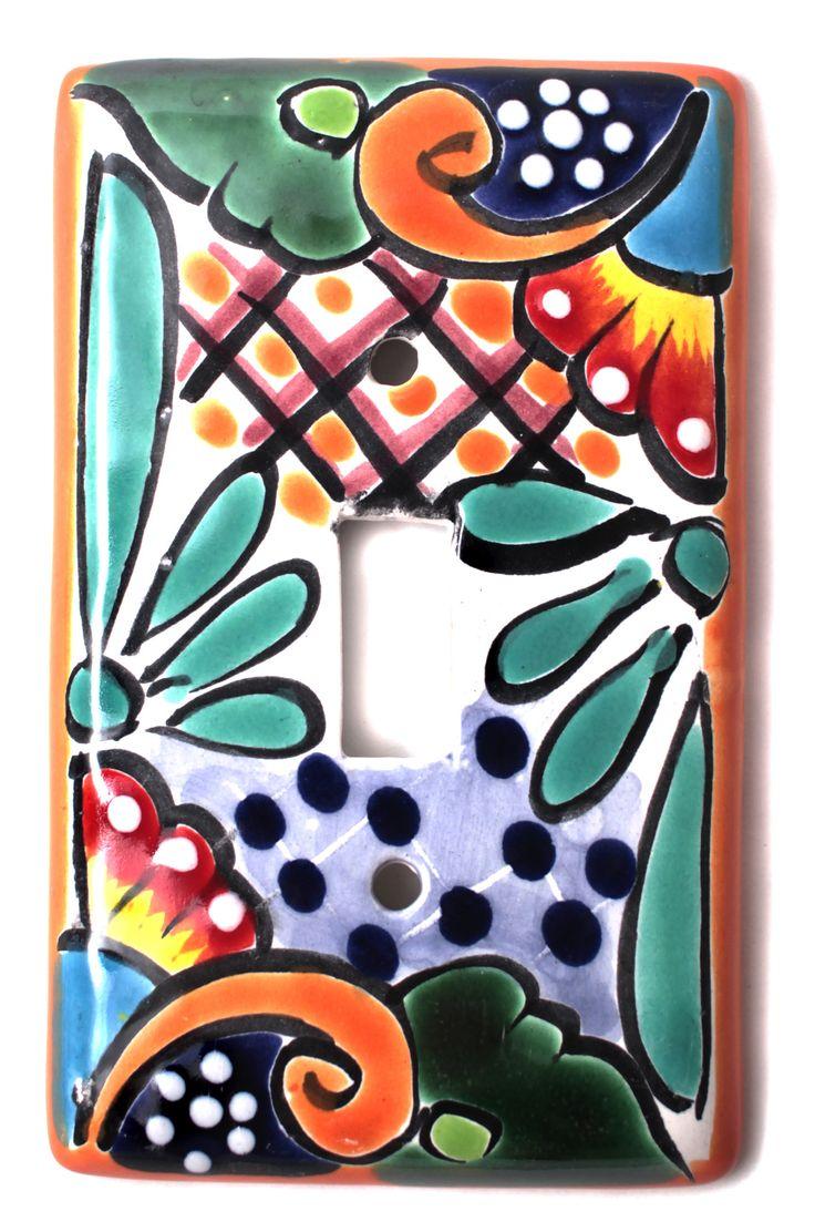 Talavera ceramic birdbaths eclectic bird baths phoenix by - Mexican Talavera Pottery Single Toggle Switch Plate Ttsp015