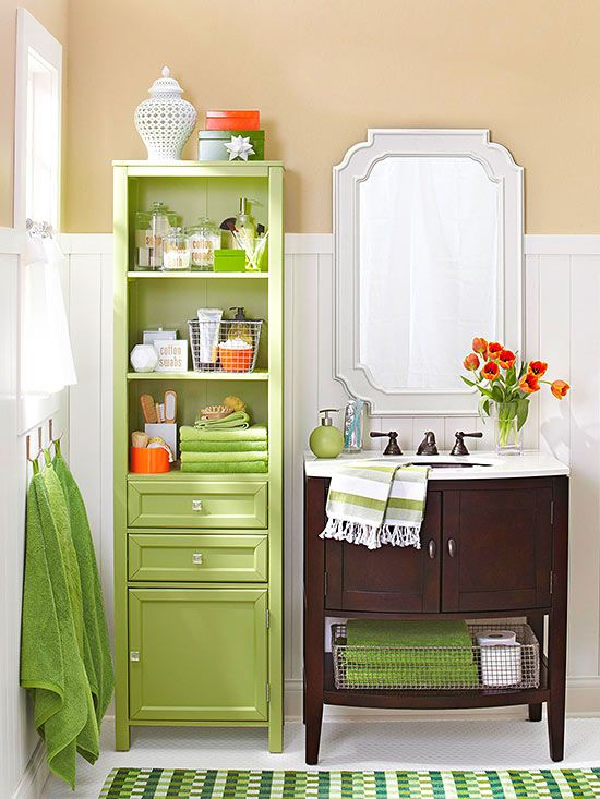 Love all the storage that was created in this tiny Bathroom Remodel on a Budget Do you need help getting decluttered, organized, and developing Systems.   We can help www.adventuresinorganizing.ca