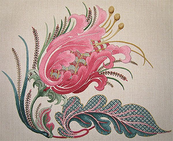 Gorgeous new crewel embroidery design from Talliaferro - click through for my review!