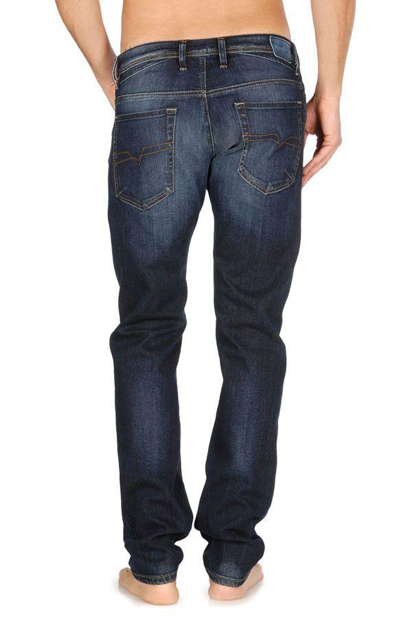 Men&39s Diesel Shioner Stretch Slim Skinny Jeans Wash 0814W folo