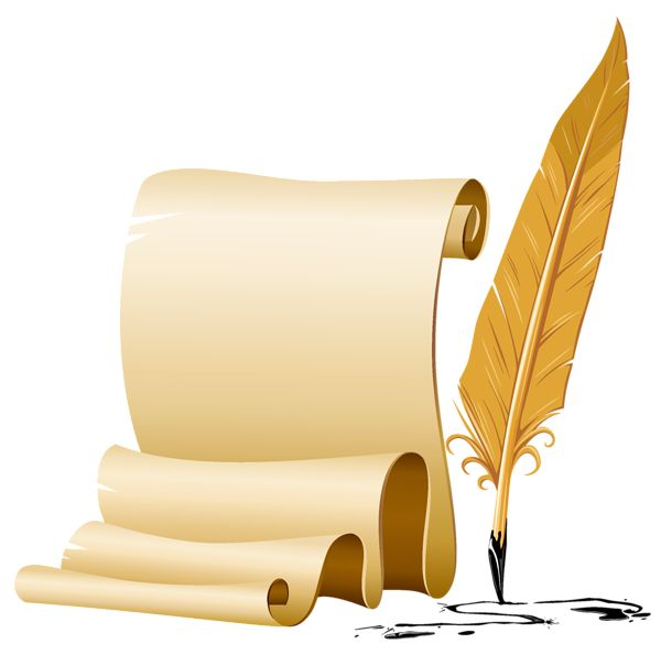 quill and parchment clipart - photo #20