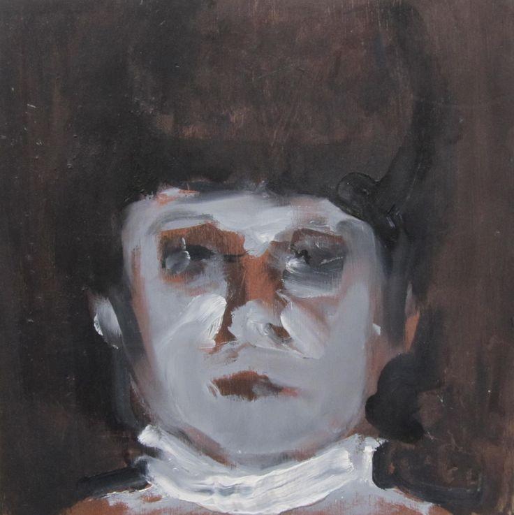 """""""Diario vivir. Retrato""""  Óleo sobre tabla 20x20cm"""
