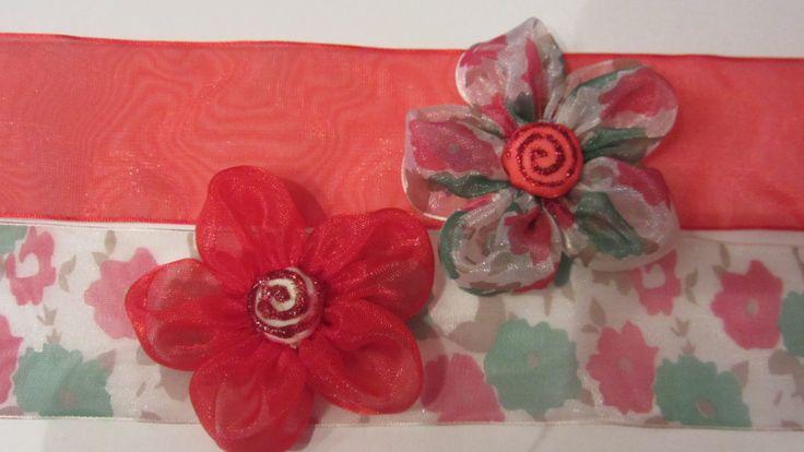 Tutorial: Flores de organza. Organza Flowers.