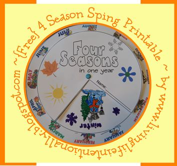 Weather, Seasons, and Months of the Year Preschool Printable