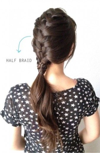 Rainy day blues? Try this braided ponytail combo to change up your look!