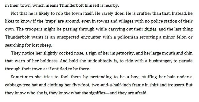 A section about Captain Thunderbolt's lady Mary Ann Bugg (part 3)