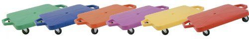 Champion Sports 12-Inch Multi-Colored Heavy Duty Plastic Scooter Boards with Handles (Set of 6) by Champion Sports. $110.18. Scooter boards are a fun P.E. and recreational activity that allow for fun variations of your students favorite games both inside and out. Play scooter hockey, create a scooter train, try scooter soccer, or whatever game you can think of. The Heavy-Duty Scooters from Champion Sports are made of 1/5in poly plastic and feature non-marking swivel rubber wheels...