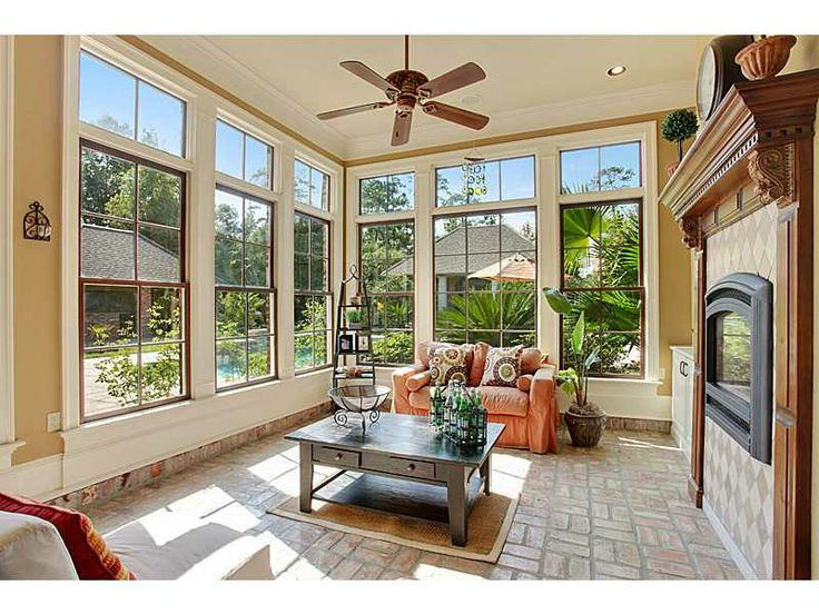 Sunroom with fireplace sunroom patio fireplaces for Sunroom with fireplace