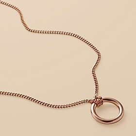 Rose gold charm necklace - love that rose gold!