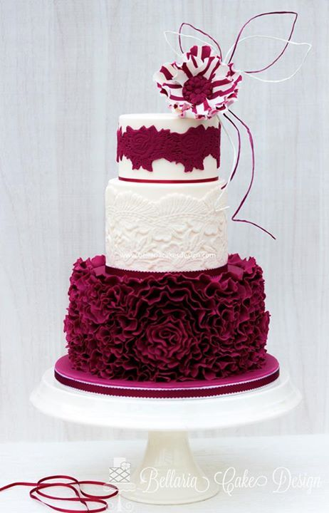 Marsala Burgundy In Combination With Ivory Tortas