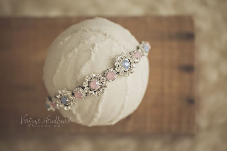 Princess Diamonte Headbands. Baby Headband, Newborn Headband, Womens Headband, Girls Headband, Flower Crown, Vintage Headband by Vintage Headband Boutique. www.vintageheadbandboutique.com.au