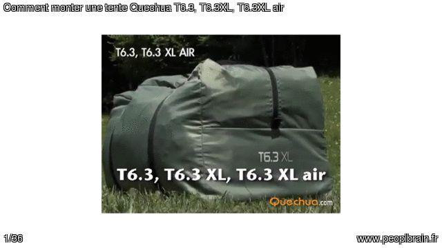 Comment monter une tente Quechua T6.3, T6.3XL, T6.3XL air ? Ce guide est valable pour les tentes Quechua T6.3, T6.3XL et T6.3 XL air.